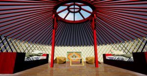 3D mongolian ger yurta
