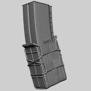 pouch magazine ak74 3D model