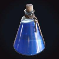 3D blue potion rope mana model