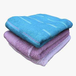 retopology pile towels 3D