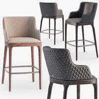 Cattelan Italia Magda Couture stool set1