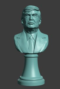 bust donald 3D model