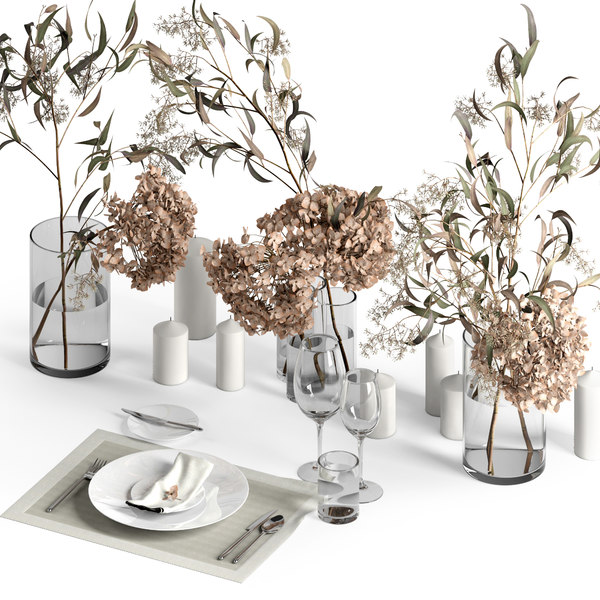 table setting dry 3D model