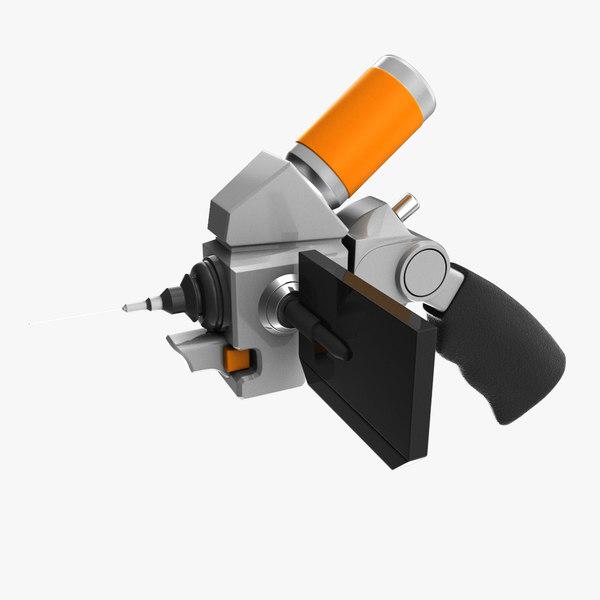 futuristic injection kit 3D model