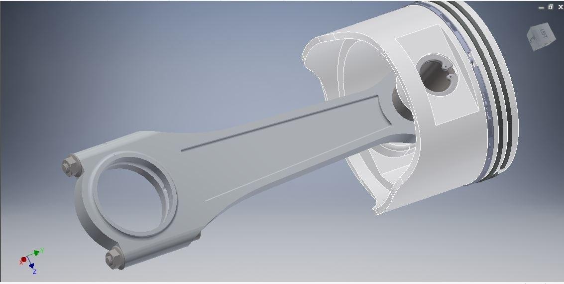 3D piston connecting rod model