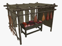 medieval stall meat model