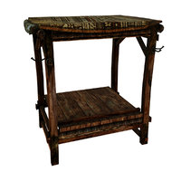 3D medieval stall shop table