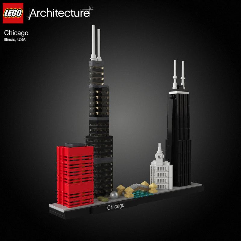 3D chicagos lego