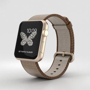 apple watch gold 3D model