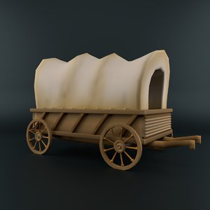 cartoon waggon 3D