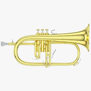 3D flugelhorn horn