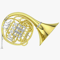 french horn 3D