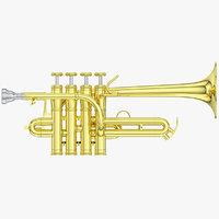 3D piccolo trumpet