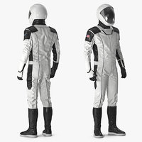 3D futuristic space suit rigged