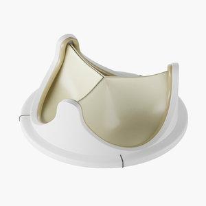 3D artificial heart valve model