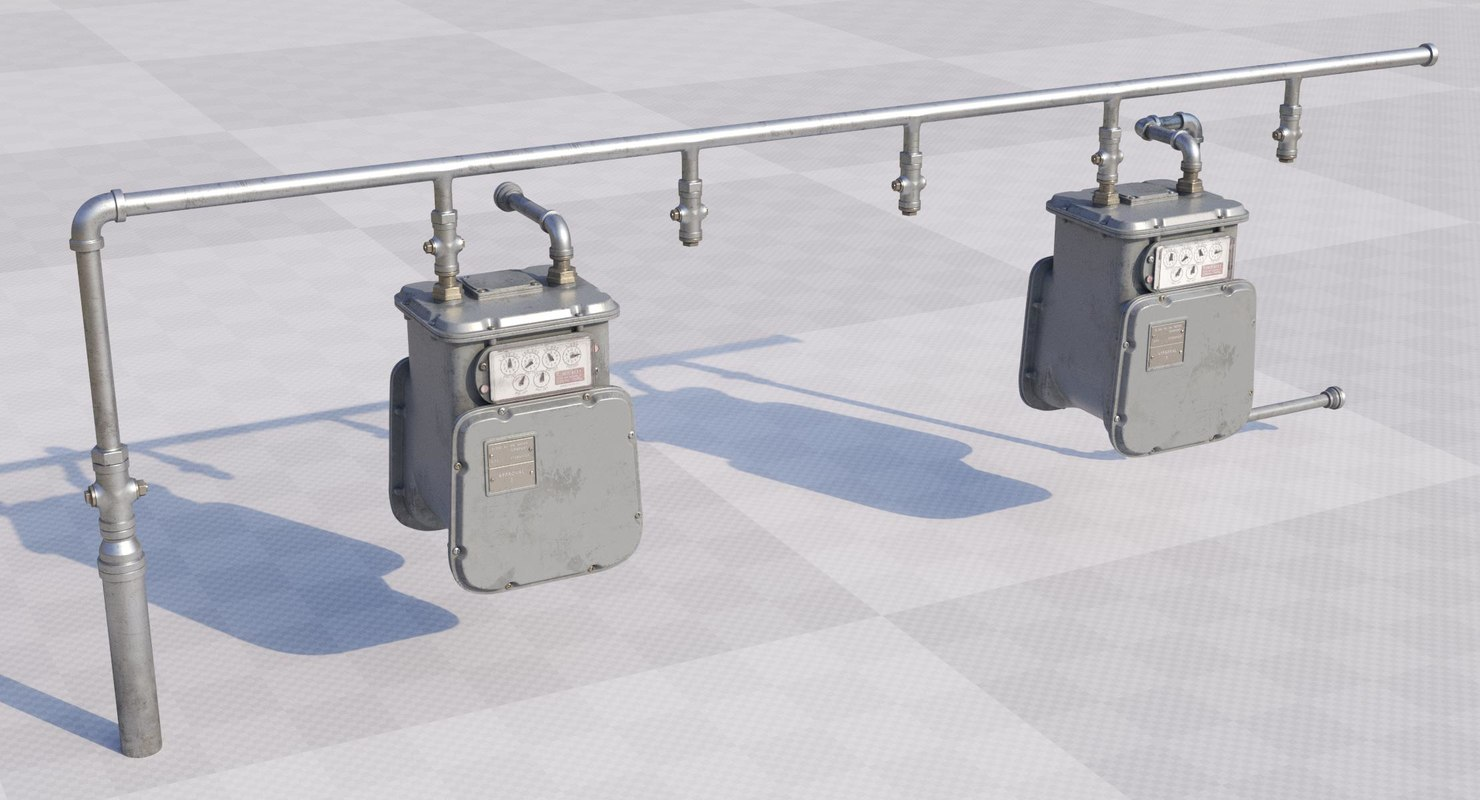 gas meter 3D model