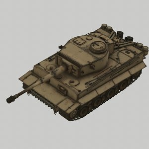 3D tank germany model
