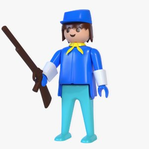 3D playmobil cavalry rifle