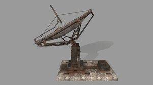 3D model satellite stairs