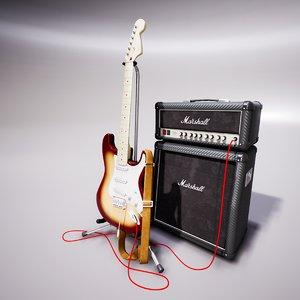 guitar amplifier 3D
