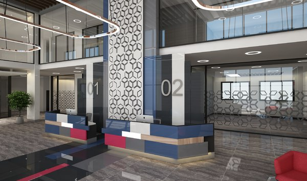 modern lobby model