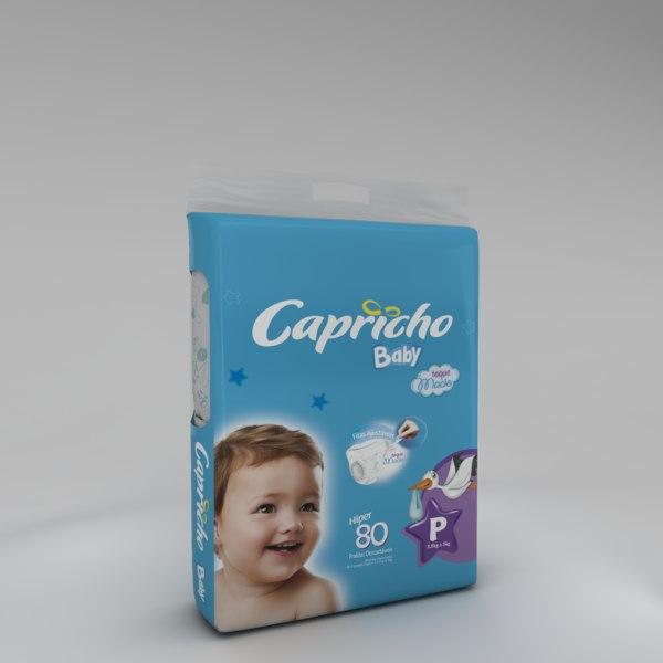 diaper package 3D model
