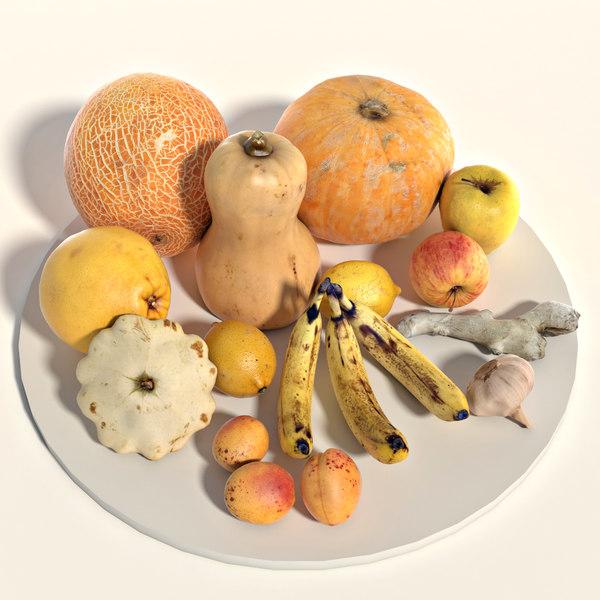 3D fruits vegetable
