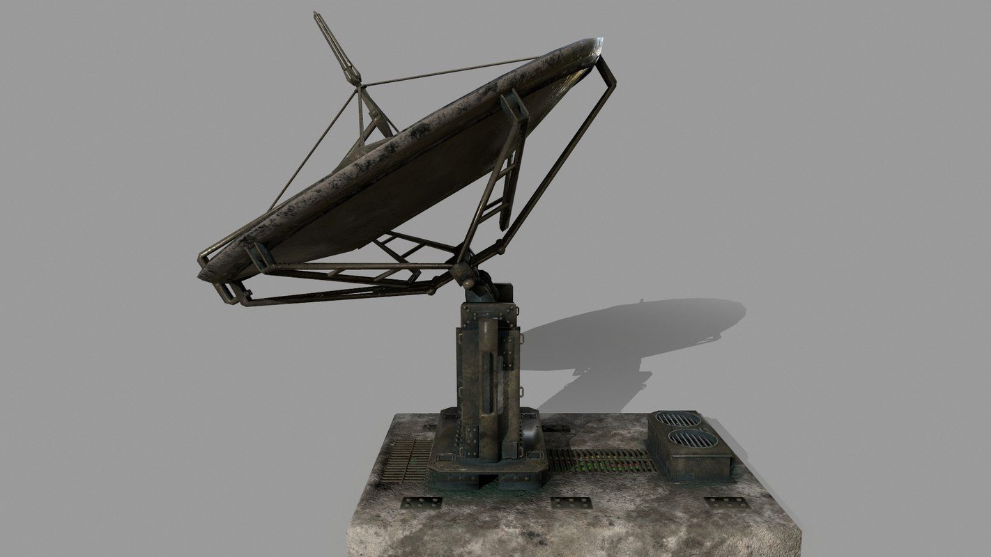 3D satellite stairs model
