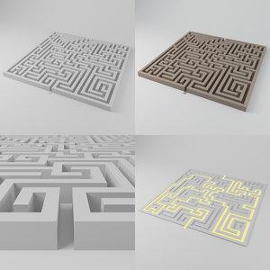 maze 1851 blocks model