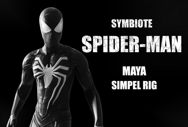 symbiote spider-man 3D model
