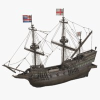 ship golden hind model