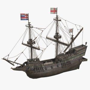 ship golden hind model