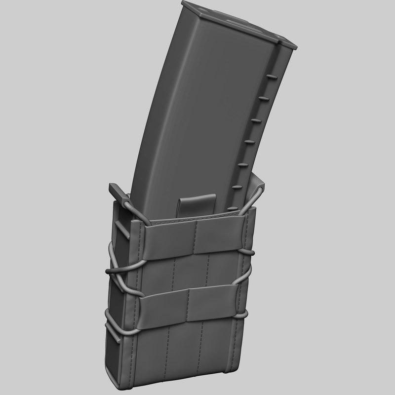 3D pouch magazine ak74 model