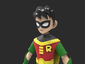 robin cartoon character 3D model