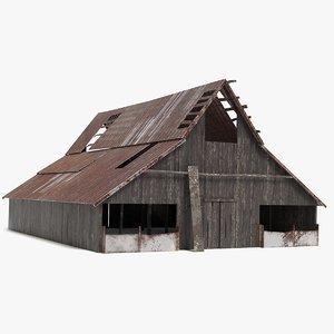rustic barn 3D model