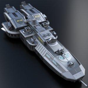 3D model spaceship star
