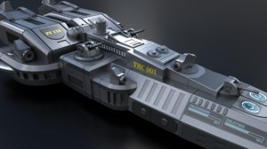 3D model space battleship