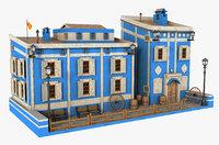 house building architecture 3D