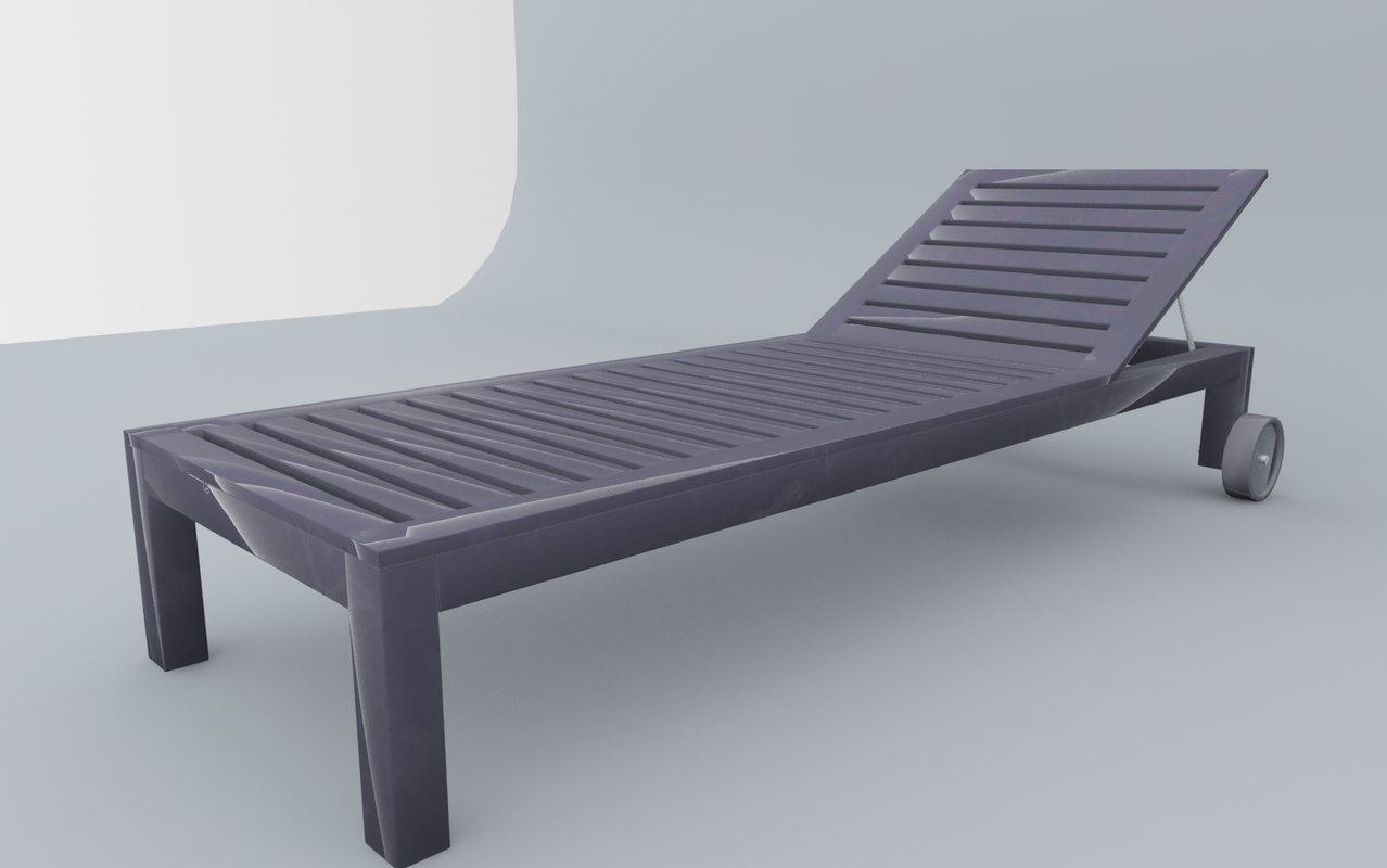 sun bed applaro 3D model