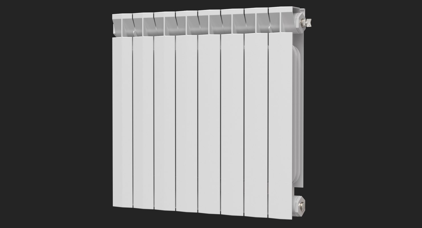 3D realistic modern central heating model