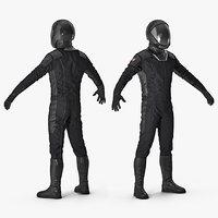 sci-fi space suit black model