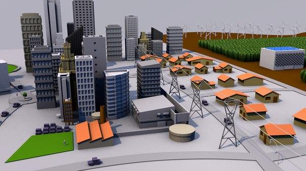 smart city 3D model