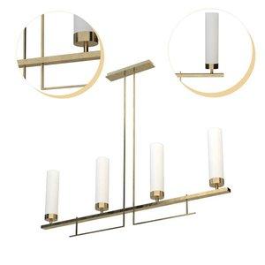 3D hammerton contemporary linear suspension model