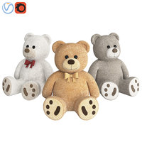 beige teddy bear 3D model