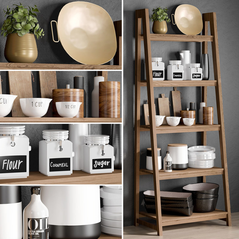 kitchen accessories 6 3D model