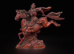 3D scan mongol warrior horseback model