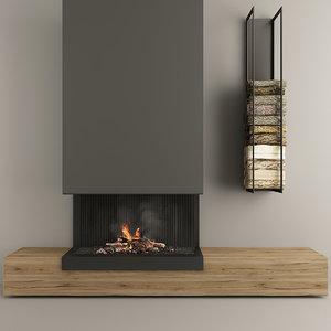 fireplace modern 3 3D model