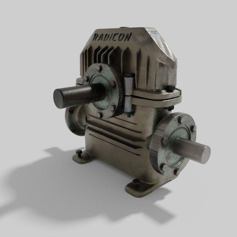 transmission gearbox gears 3D model