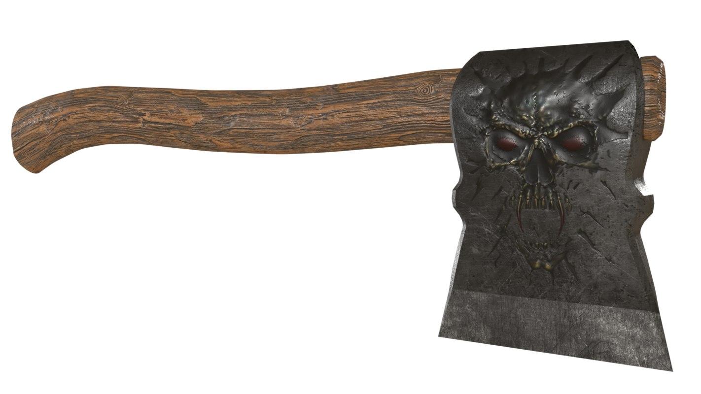 3D battle ax model