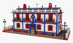 house building architecture 3D model
